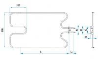 TYP 4981 - pre pečiace kuchynské rúry E-K ZDICE (dolné ohrievacie teleso)