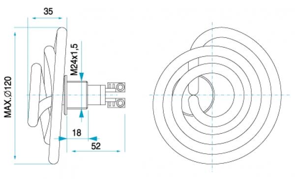 TYP 4032/004 - ohrev vody v práčkach