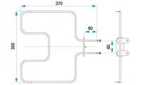 TYP 4721 - pre pečiace rúry kuchynských sporákov FIKO (dolné ohrievacie teleso)