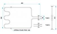 TYP 6209 - pre pečiace rúry kuchynských sporákov MORA (dolné ohrievacie teleso)