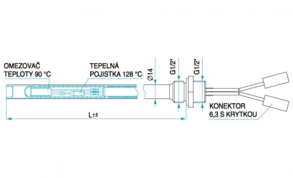 TYP 6341 - súčasť trubkových kúpeľňových radiátorov - sušiakov